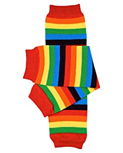 juDanzy Rainbow Stripe Baby and Toddler Leg Warmers for Boy or Girl