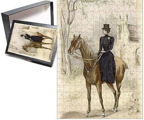 Edwardian Costumes Amazon (Photo Jigsaw Puzzle Of Riding Habit 1899)