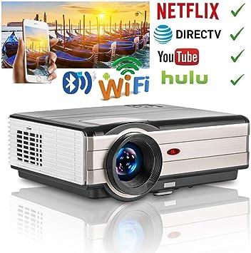 4000 lúmenes LCD LED HD Proyector inalámbrico para cine en casa ...