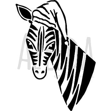 A4 \'Zebra mit einem Hut\' Wandschablone/Vorlage (WS00000443): Amazon ...