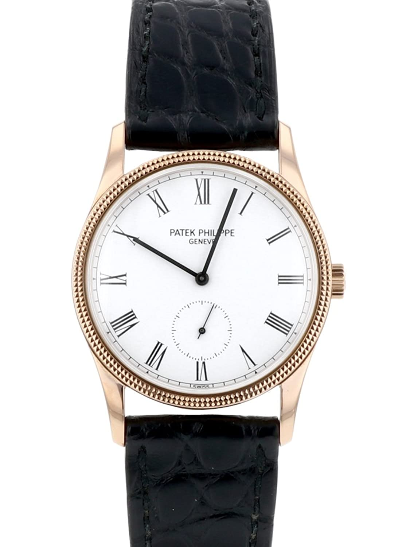 [パテックフィリップ] 腕時計 PATEK PHILIPPE 3796DR カラトラバ K18RG/ブラックレザー ホワイト文字盤 [中古品] [並行輸入品] B07DRDNHP6