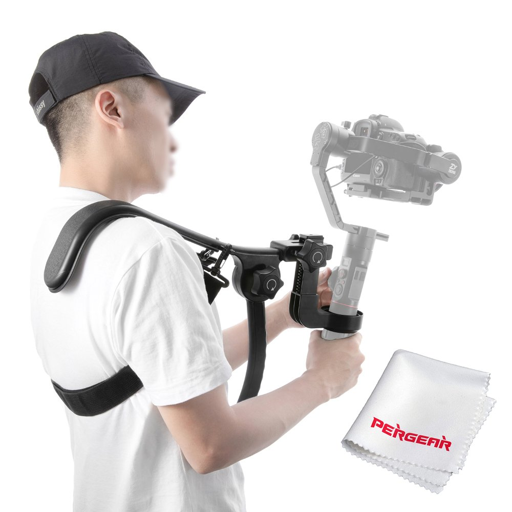 Zhiyun Crane 2 Shoulder Support Bracket Ergonomic Design Effort-Saving Operation 5-Second Quick Installation Keeping Hands Free Flexible Shoulder Strap by Zhiyun