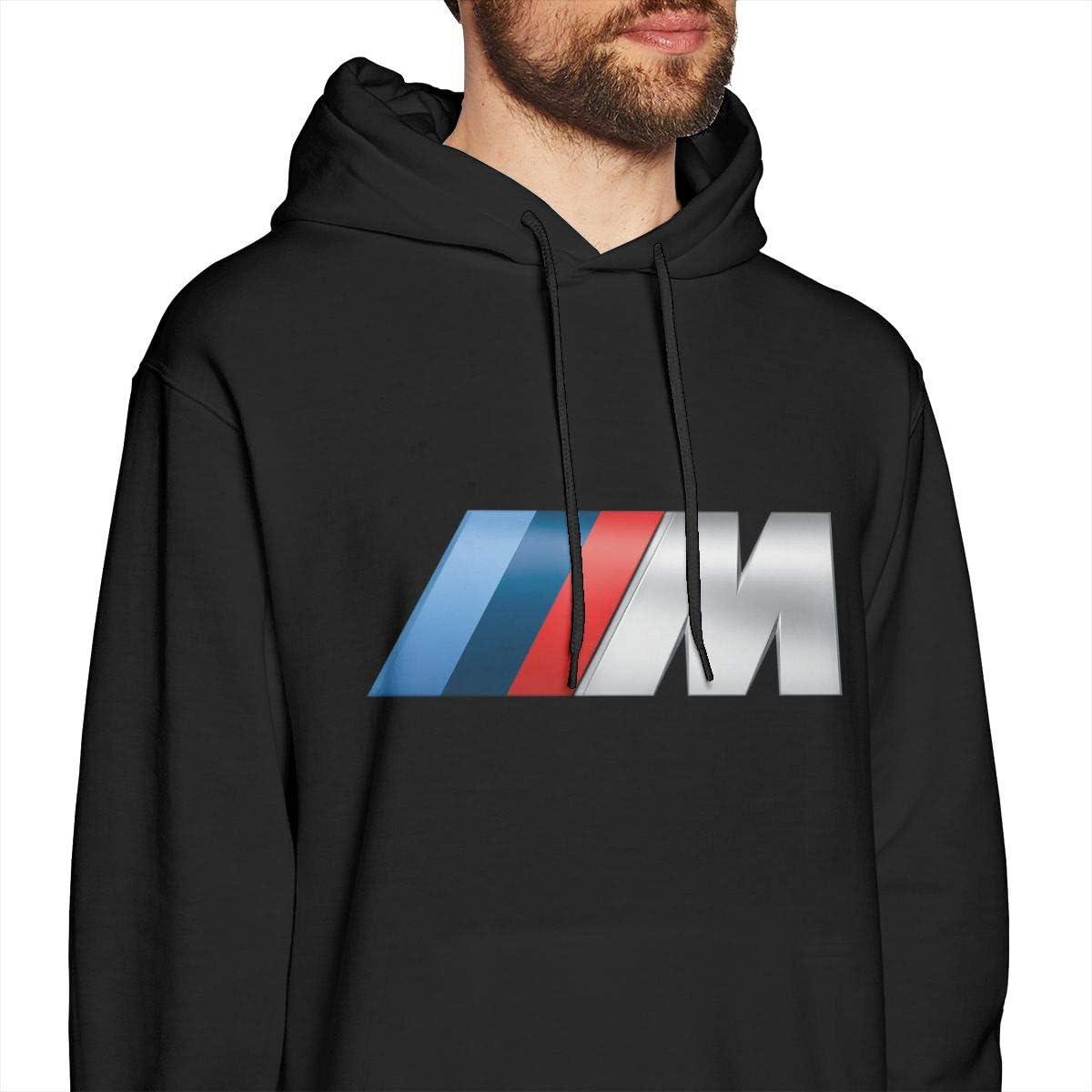 C-JOY M-Logo Mens Hoodies Pullover Hooded Sweatshirt Jackets Black
