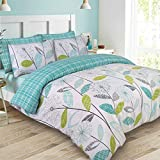 Allium Dandelion Teal UK King/US Queen Size Duvet Cover and Pillowcase Set