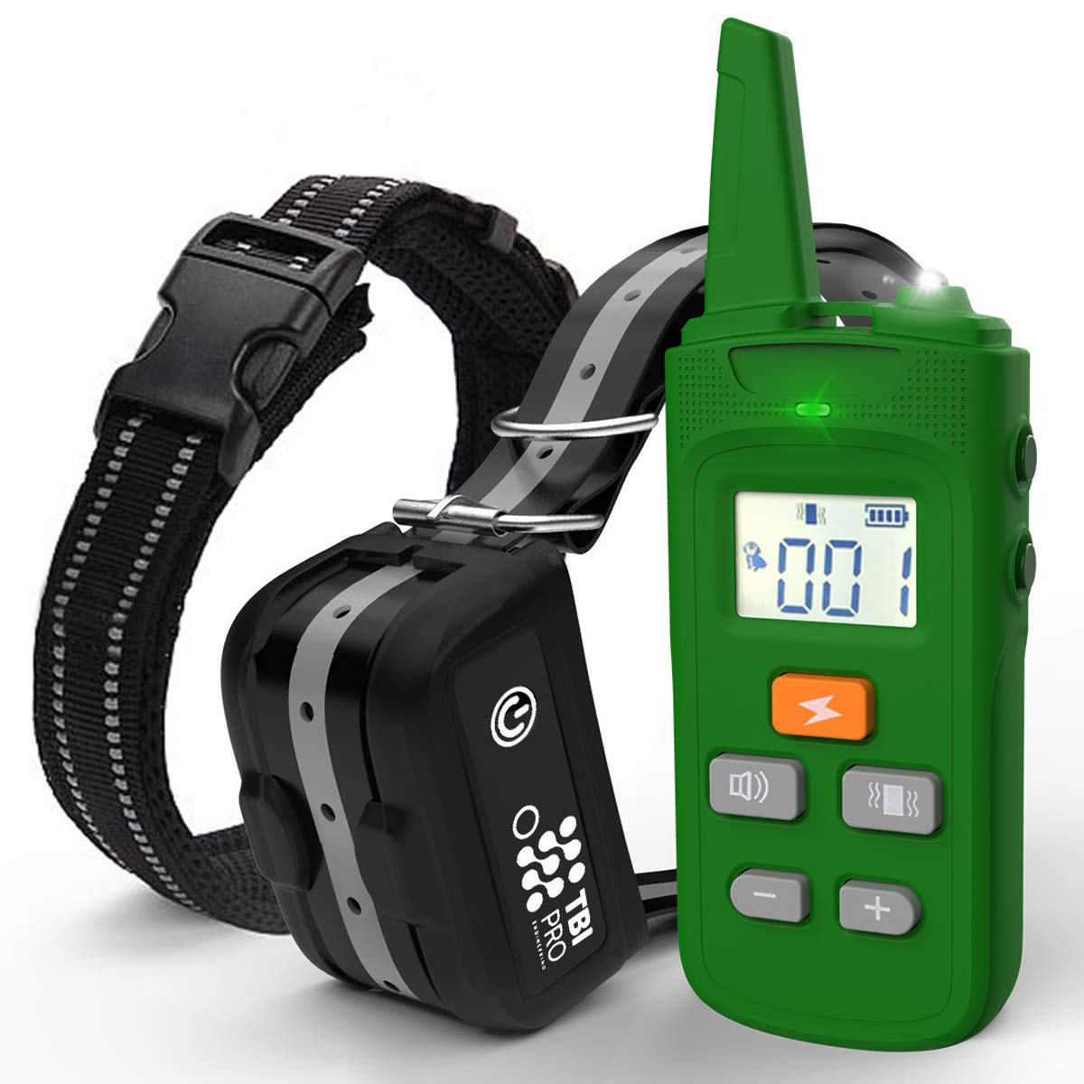 TBI Pro [All-New 2019 Dog Shock Training Collar with Remote   Heavy-Duty, Long Range 2000 ft, Rechargeable & IPX7 Waterproof   E-Collar Shock Collar for Dogs Small, Medium, Large Size, All Breeds by TBI Pro