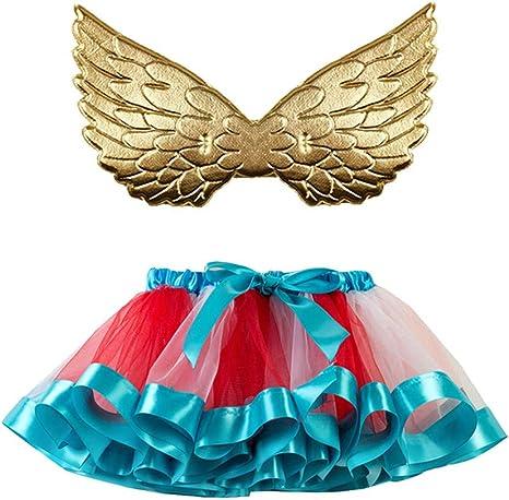 Saingace - Falda de Tul para niña, tutú, Fiesta, Danza, Ballet ...