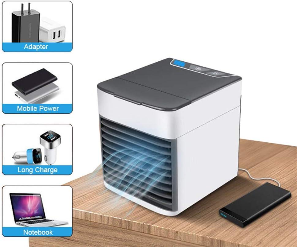 YUKAKI 7 Couleur Lumi/ère De Bureau Ventilateur De Refroidissement Dair Ventilateur De Refroidisseur Dair Portable Climatiseur pour bureau