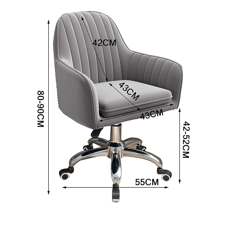 GAOPANG svängbar ergonomisk uppgift kontorsstol mitten av ryggen datorbordsstolar med bekväm ländrygg stöd 96 kg kapacitet, sitthöjd: 42–52 cm Grått