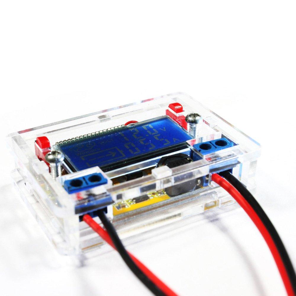 KKmoon DC-DC Adjustable Power Step-down Charge Module DIY Kit LED Driver Voltmeter Ammeter Peak Current 3A