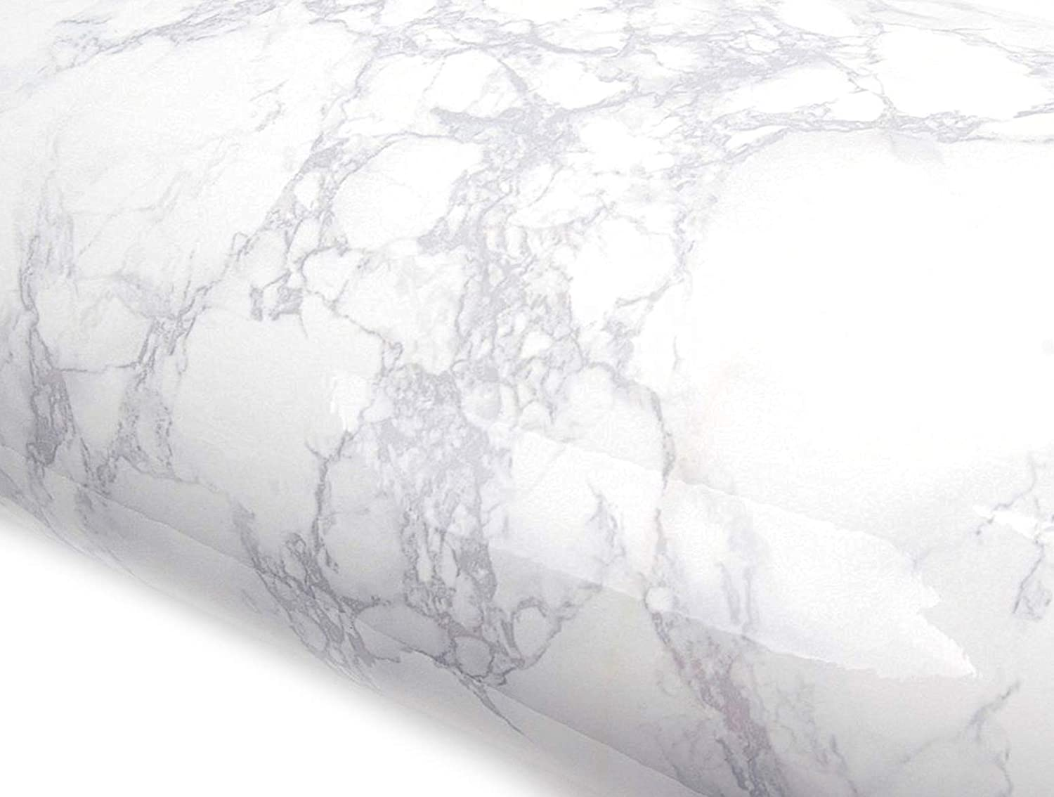 Peel and Stick PVC Instant Marble Decorative Self-Adhesive Film Countertop Backsplash Napoleon Marble (PGS408 2.00 feet X 6.56 feet)