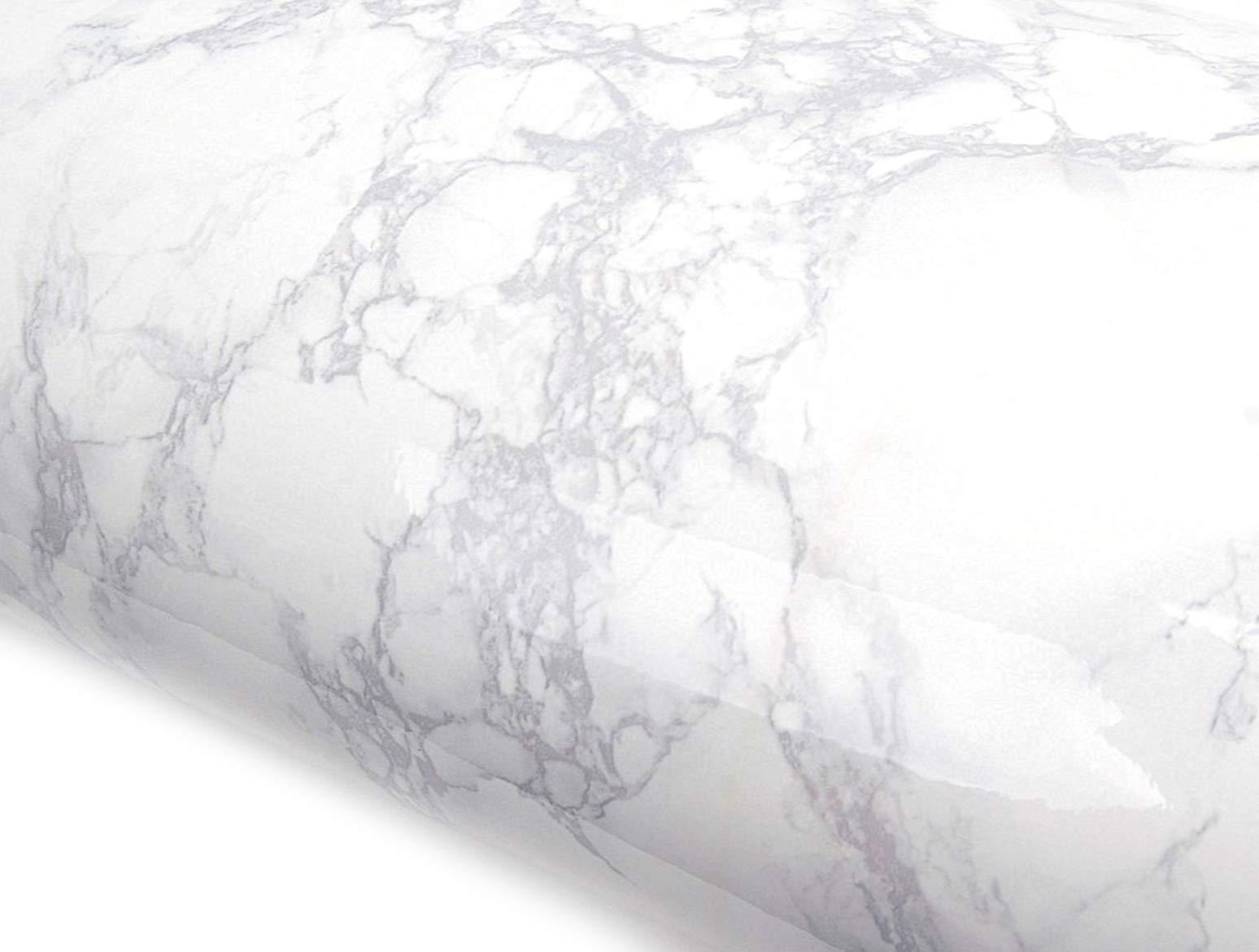 Peel and Stick PVC Instant Marble Decorative Self-Adhesive Film Countertop Backsplash Napoleon Marble (PGS408 2.00 feet X 6.56 feet) by ROSEROSA
