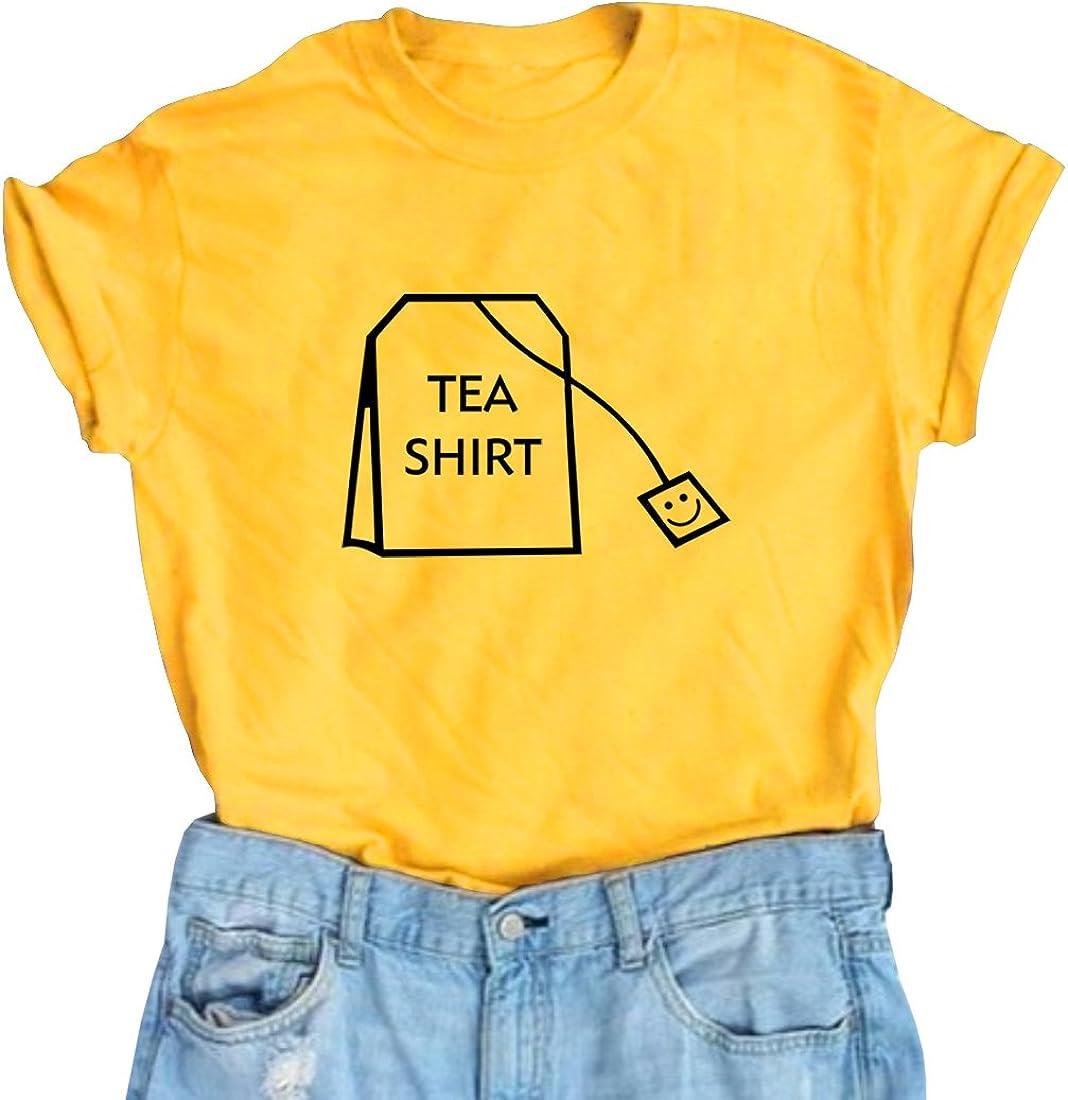 BLACKOO Teen Girl Funny T Shirts Women Cute Tops Junior Graphic Tee