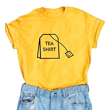 d26a59fb Amazon.com: BLACKOO Women's Cute T Shirt Juniors Tee Graphic Tops: Clothing