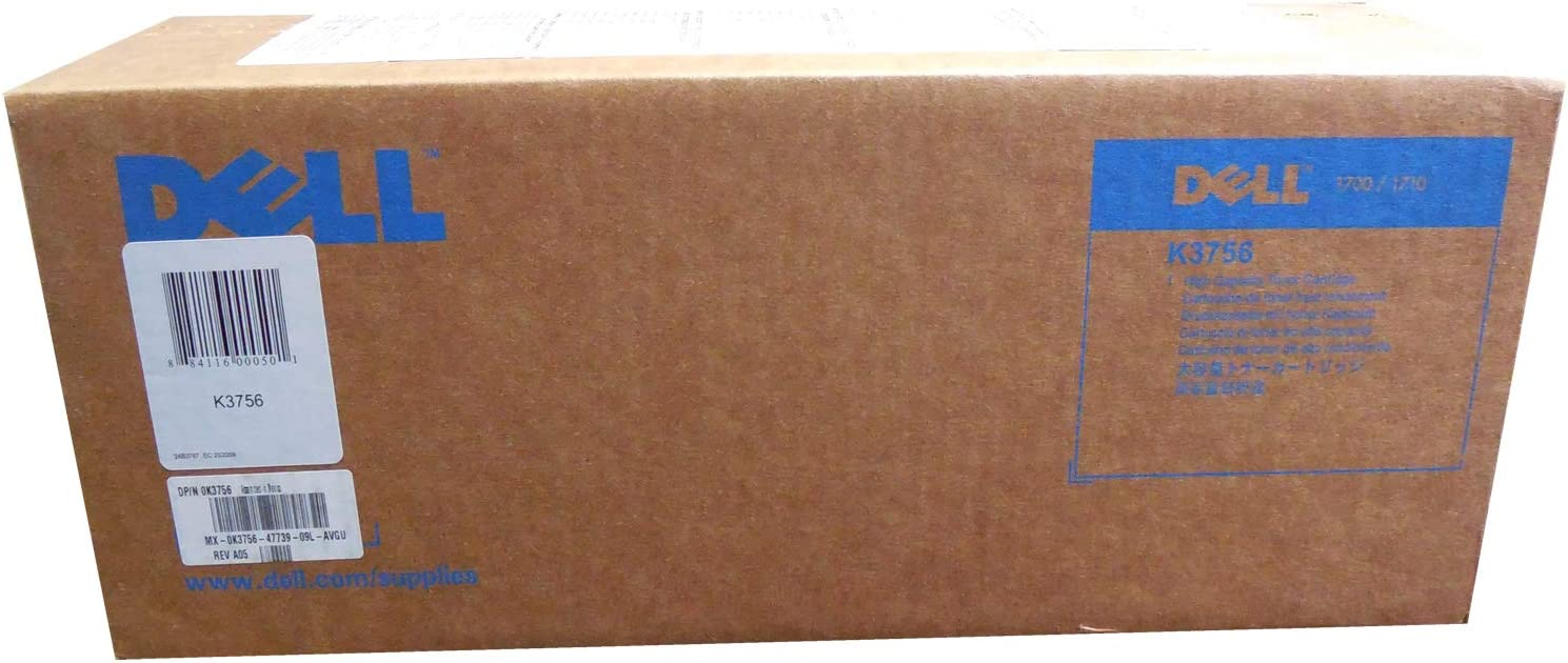 Dell 1700/1700N1710/1710N High Capacity Use and Return Toner (6,000 Yield) (OEM# 310-5400; 310-7039; 310-7022), Part Number K3756 by Dell