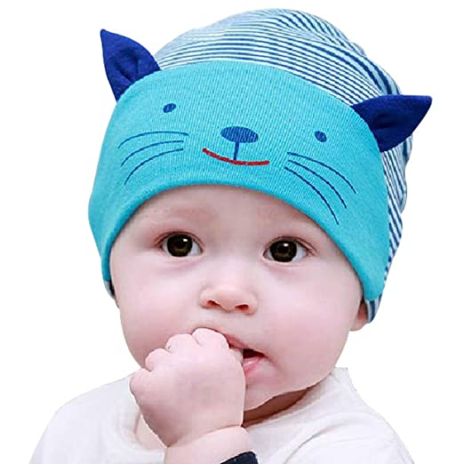Amazon.com  Yonger Cute Newborn 3D Cat Baby Caps Lovely Cartoon Cute ... 66d15ac352c