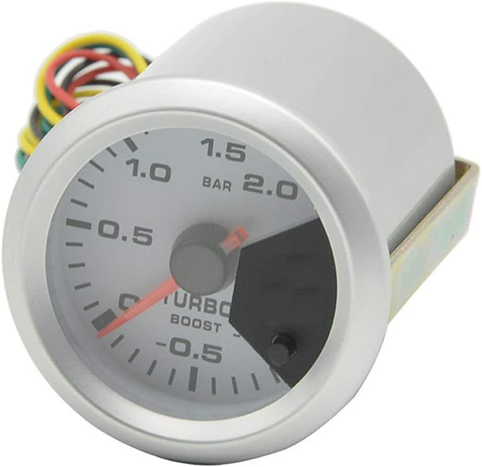 1~2Bar for Car Truck Boat WXQ-XQ 52mm Car Instrument Pointer Turbo Boost Gauge Colorful Backlight Car Turbo Boost Gauge