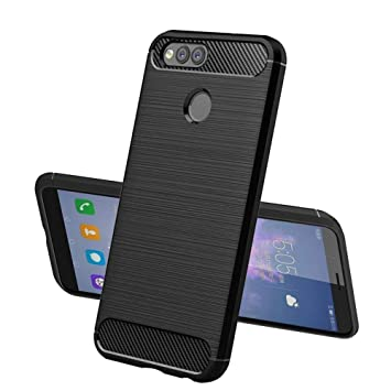 best service 7f8fe 48429 Huawei Honor 7X case, TopACE Durable Slim Armour Protective Soft Back Case  Cover for Huawei Honor 7X Smartphone (Black)
