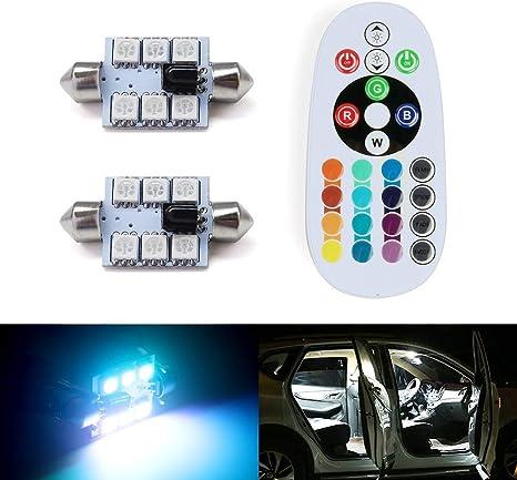 telecomando con 24 tasti. luce per interno auto Shinfok 2 pezzi da 31 36 39 41/mm RGB 5050/6SMD luce intermittente per calotta lettura mappa