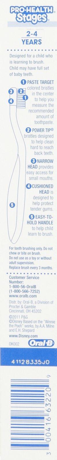 Oral B Stage 2 Toothbrush – Winne the Pooh – 6 pk