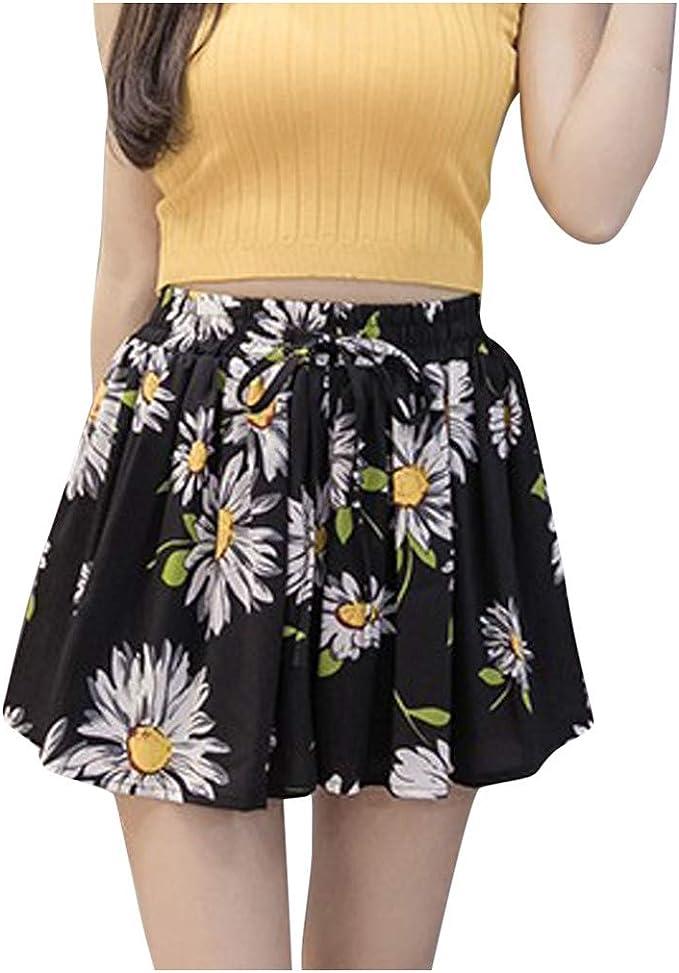 YGbuy-Moda Mujer Falda Casual Pantalones Imprimir Falda Falda ...