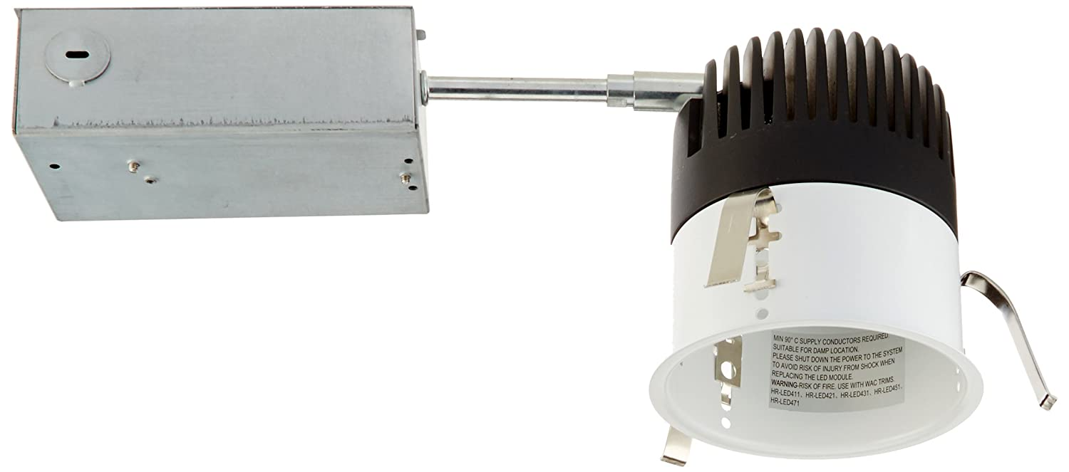WAC Lighting HR-LED418-R-W LEDme 4-Inch Recessed Downlight 3000K Non-Ic Housing Remodel