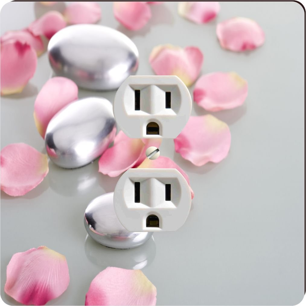 Rikki Knight 2045 Outlet Spa Stones with Rose Petals Design Outlet Plate