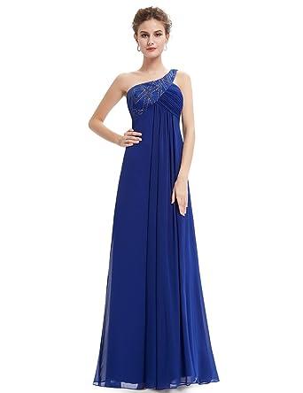 Ever Pretty Damen Elegante One Shoulder Lange Abendkleid 36 Saphirblau   Amazon.de  Bekleidung a38cf37b8d