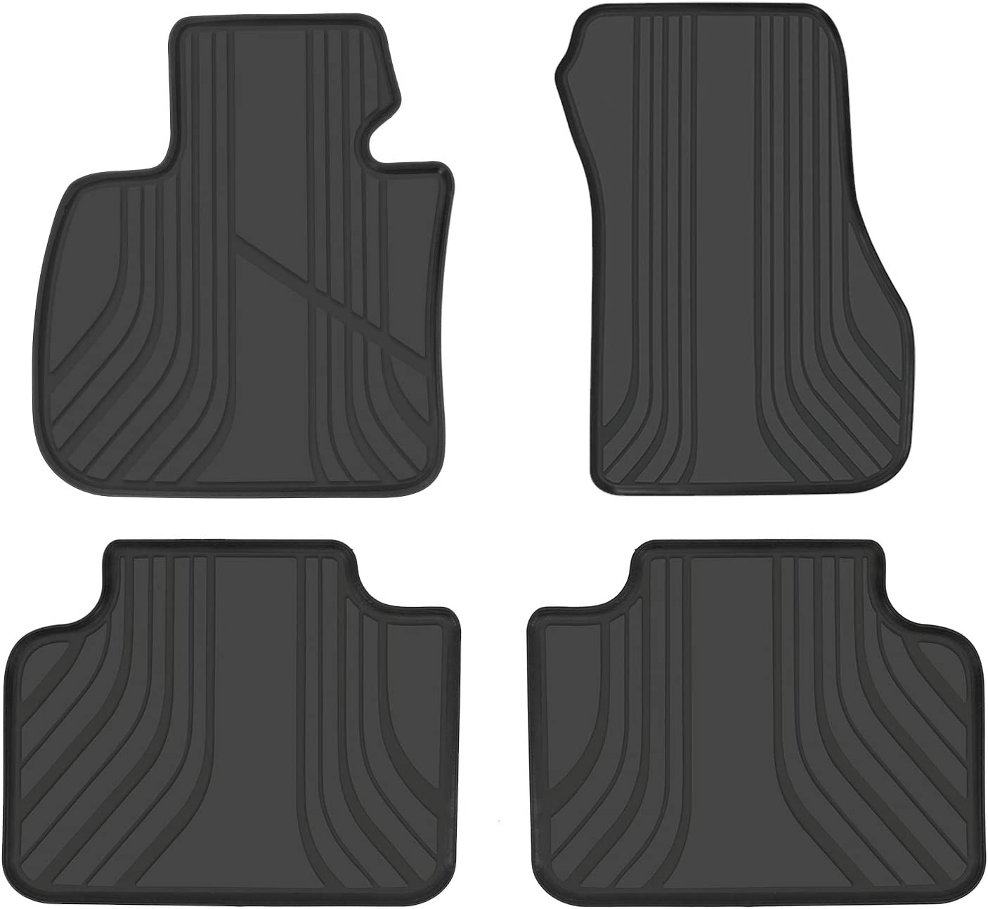 SMARTLINER All Weather Custom Fit Floor Mats 1st Row Liner Set Black for 2018-2020 BMW X3 and X4