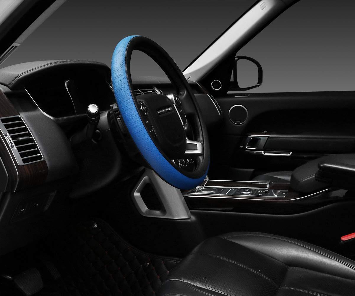 SEG Direct Pelle Microfibra Coprivolante Copertura Volante Nero 37-39cm
