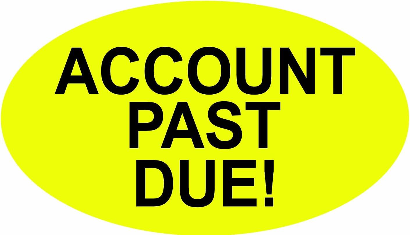 Account Past Due PromoTouch Compatible Labels 5,000 Labels