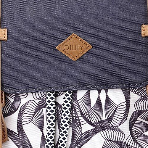 Oilily Oilily Backpack - Zaini Donna, Grau (Charcoal), 15x40x31 cm (B x H T)