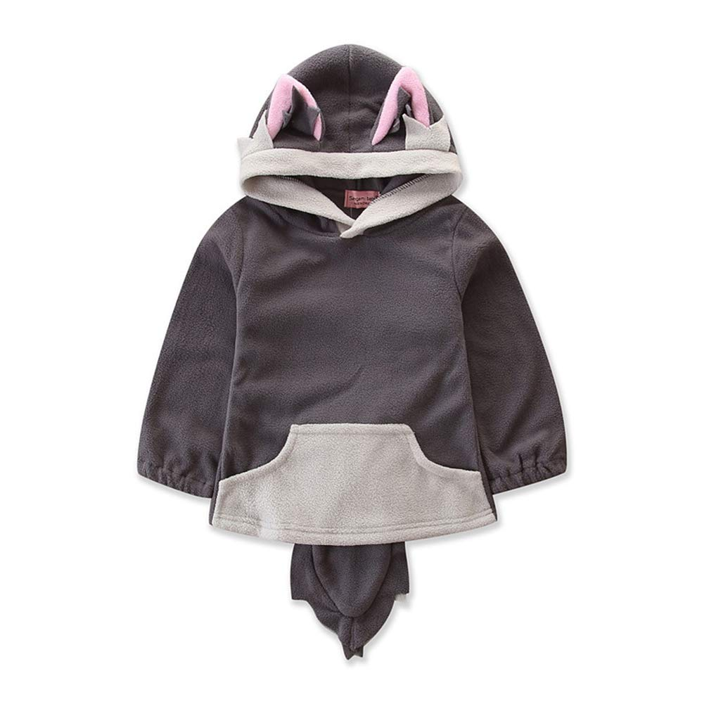 MAOMAHREWW Toddler Baby Fox Cosplay Costume Outwear Hooded Pullover Jacket
