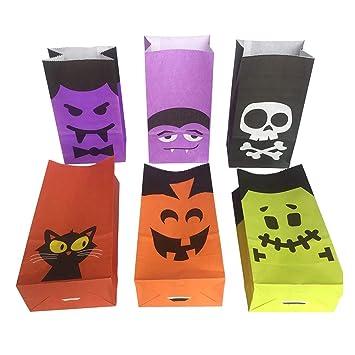 Hemoton 6 Piezas Bolsa de Papel de Halloween Bolsas de ...