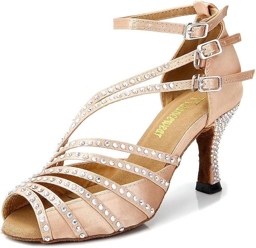 TPS Light Brown Mat Ballroom Salsa Custom-made Dance Shoes D564