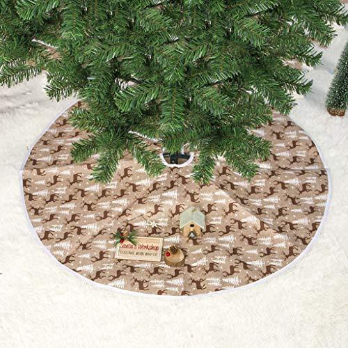 Sansee - Falda de árbol de Navidad de Tela, diseño de Alce con ...