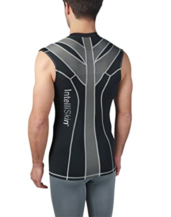 7ae37227b9 IntelliSkin Men s Foundation VTank - Ultimate Posture Correcting Sports Tank  (Medium