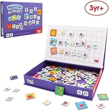 ANIKI TOYS Libro de Actividades de Rompecabezas magnético para niños de 3-7 años Juego Educativo Jigsaw Toy - Alfabeto: Amazon.es: Juguetes y juegos
