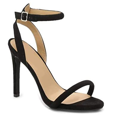 35ee112b5e4a Definitely You Ladies Womens High Heel Sandals Peep Toe Strappy Stiletto  Party Shoes Size (3