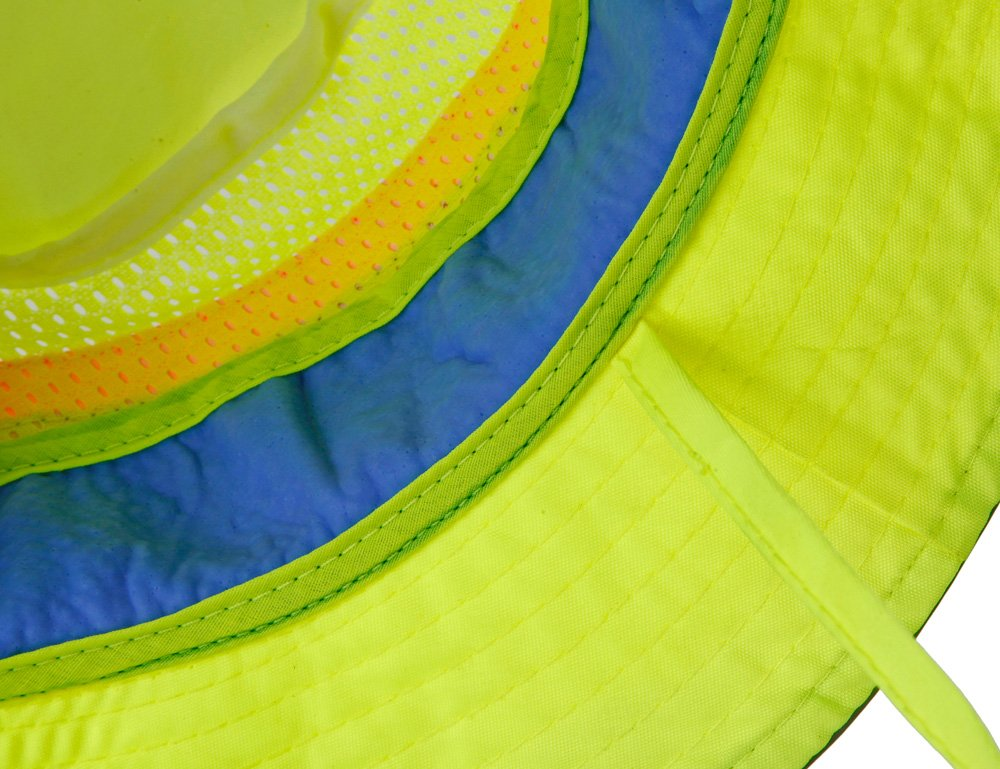 Lined with Evaporative PVA Materal for Fast Cooling Relief Ergodyne Chill Its 8935CT Breathable Cooling Ranger Hat