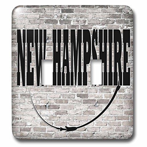 3dRose RinaPiro - US States - New Hampshire. State Capital is Concord. - Light Switch Covers - double toggle switch - Concord Outlets Hampshire New