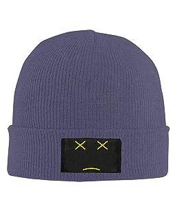 Not Happy Expression Adjustable Baseball Cap Hip-Hop Knitted Hat Men Women Unisex Sport Navy