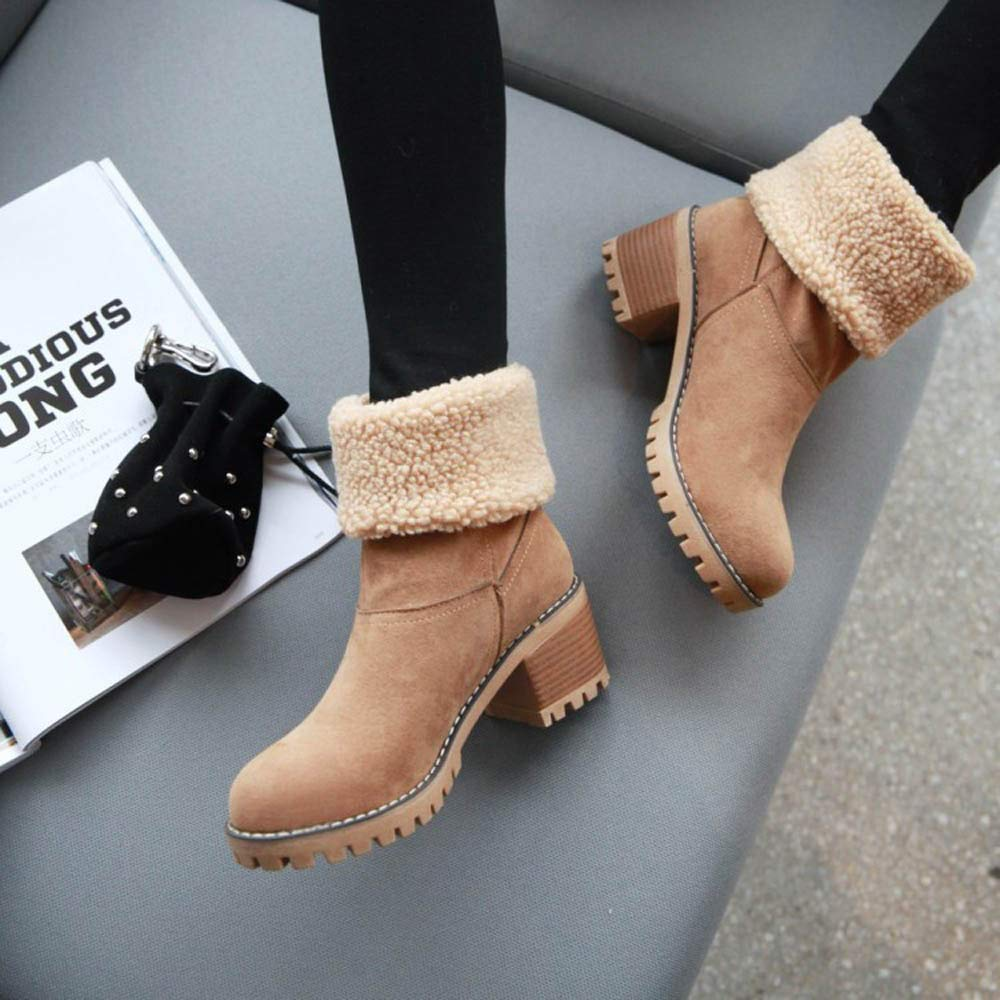 Women Warm Boots Inverlee Winter Shoes Flock Snow Boots Short Bootie