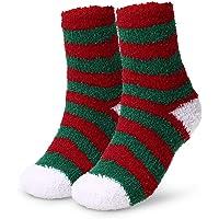 Explopur Calcetines Navideños - Calcetines Cálidos para Adultos Calcetines Estampados de Vacaciones de Navidad Calcetines Absorbentes Y Acogedores de Invierno Calcetines Coloridos (Color-1)