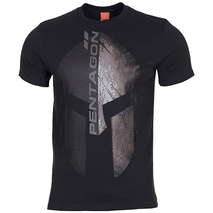 PENTAGON Hombres Ageron T-Shirt Vertical Negro