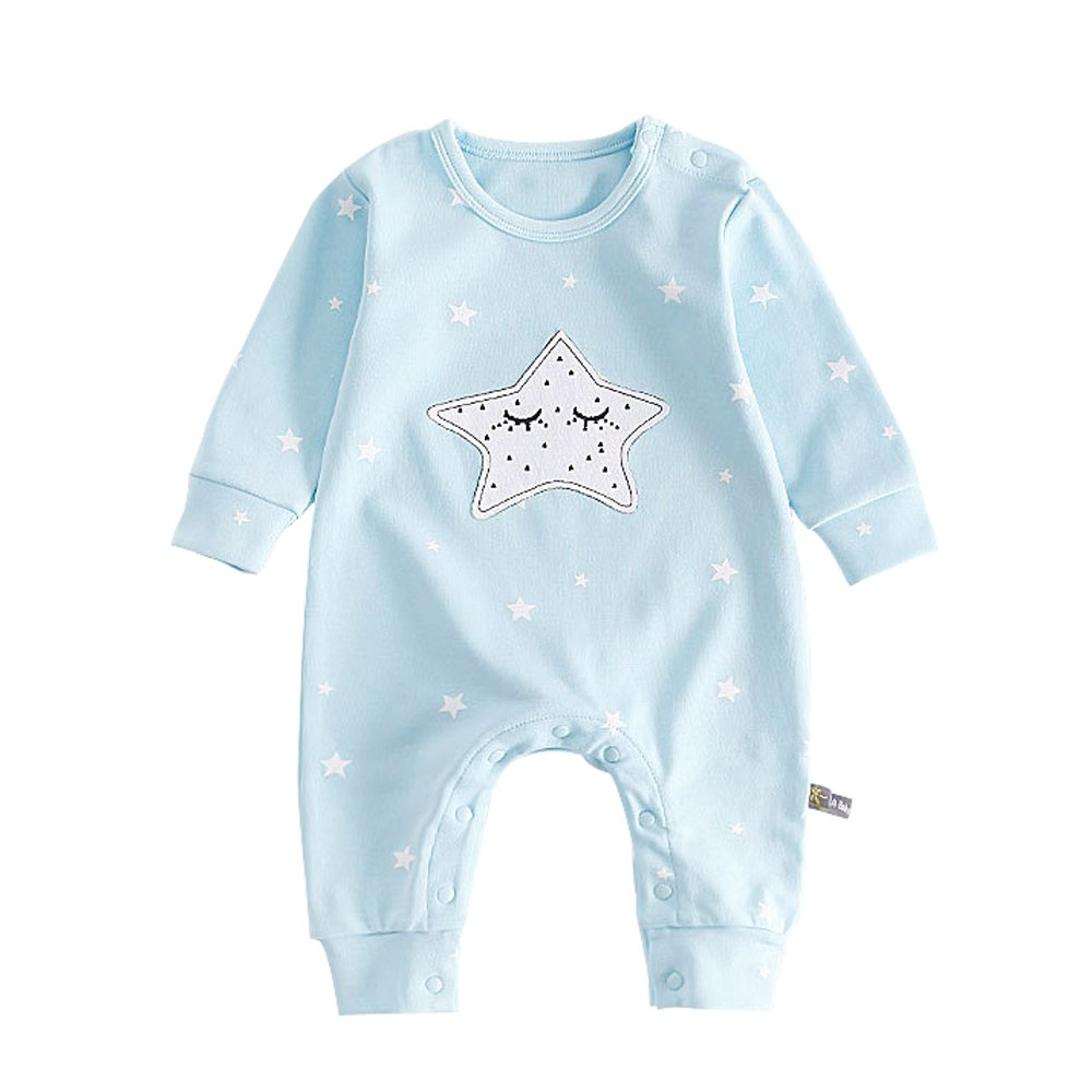 Ding Dong Baby Boy Girl Long Sleeve Moon Star Romper