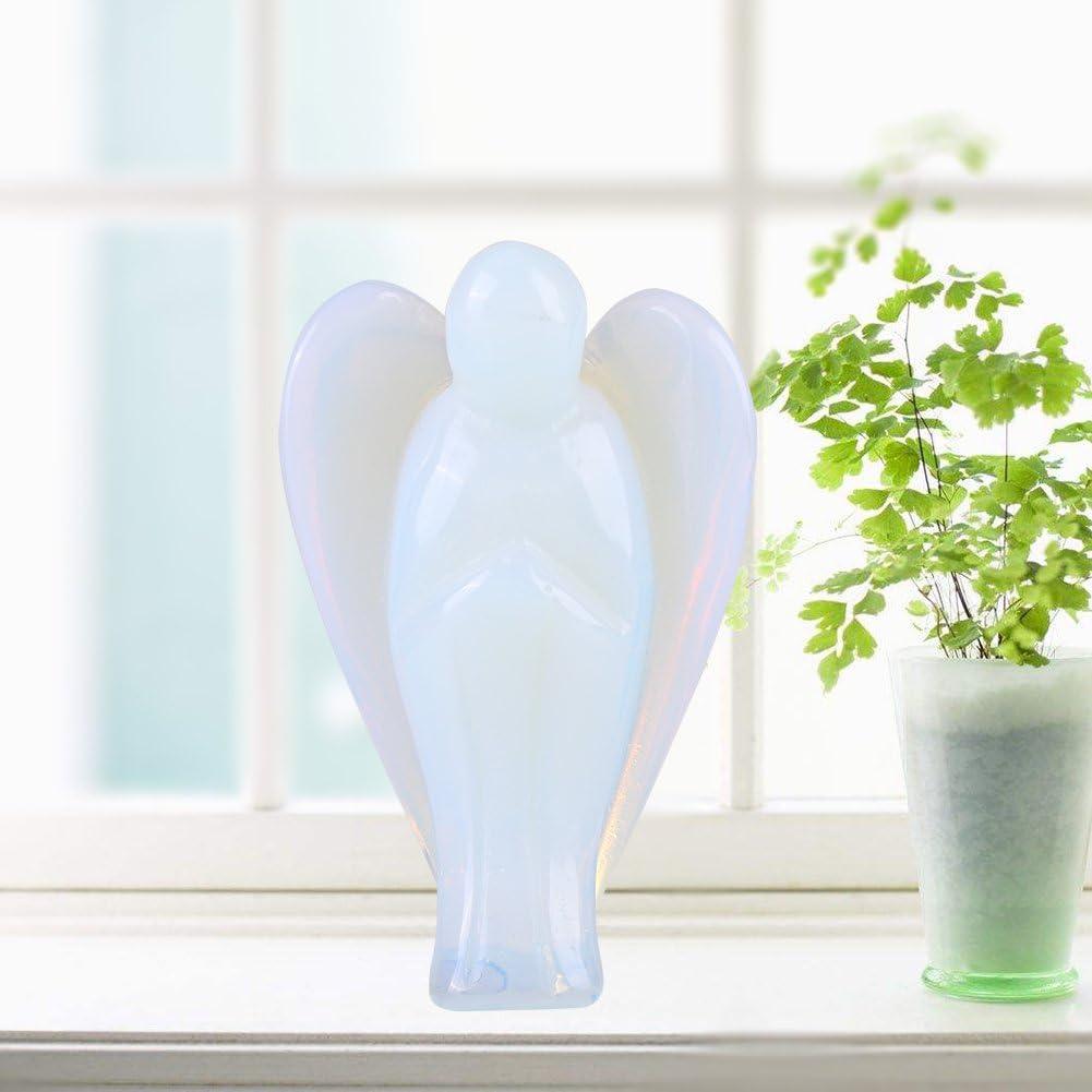 Regalo Wytino Cristal en Forma de /ángel Cristal de energ/ía Natural decoraci/ón del hogar Piedra Cristal artesan/ía # 1