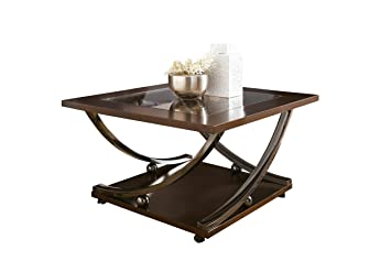Superieur Signature Design By Ashley T628 8 Rollins Collection Coffee Table, Dark  Brown