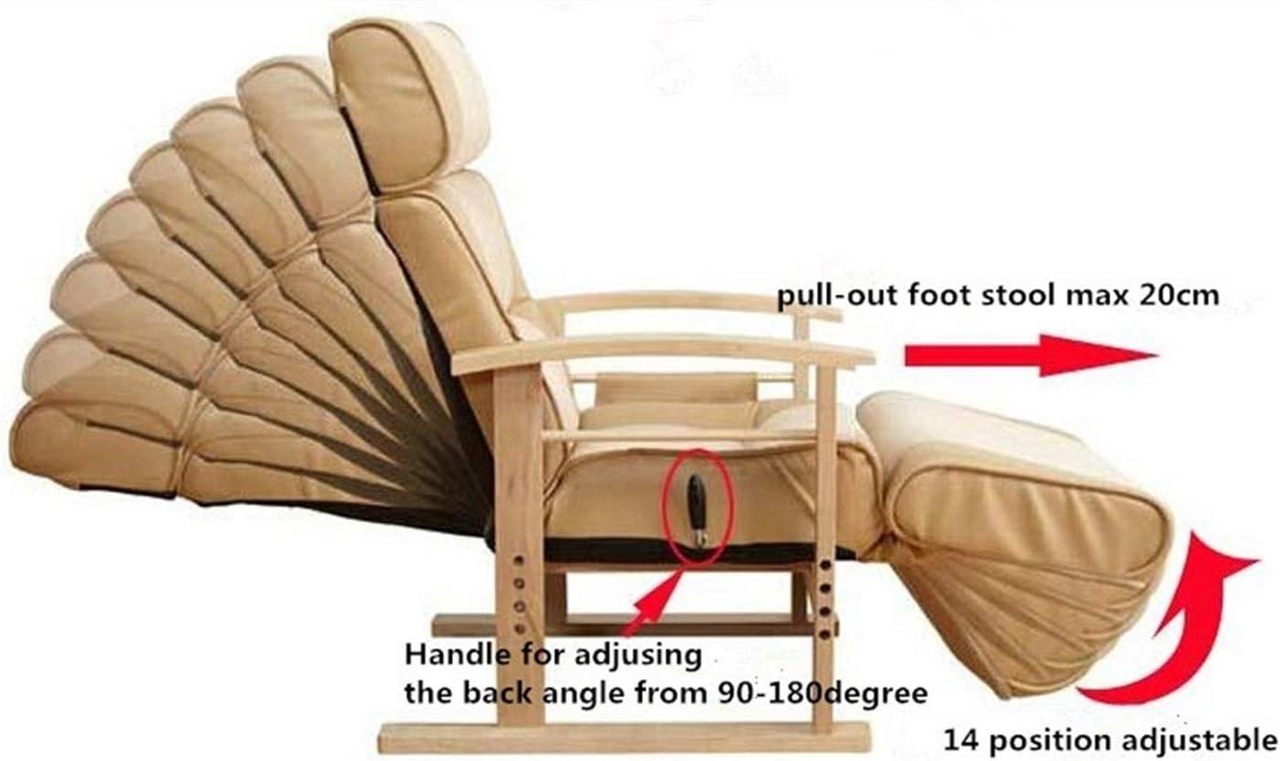 AINIYF Hauteur réglable en Cuir inclinable avec Pull Out Tabouret Salon Moderne inclinable canapé Chaise Fauteuil Meubles pour Personnes âgées (Couleur : B2) B2