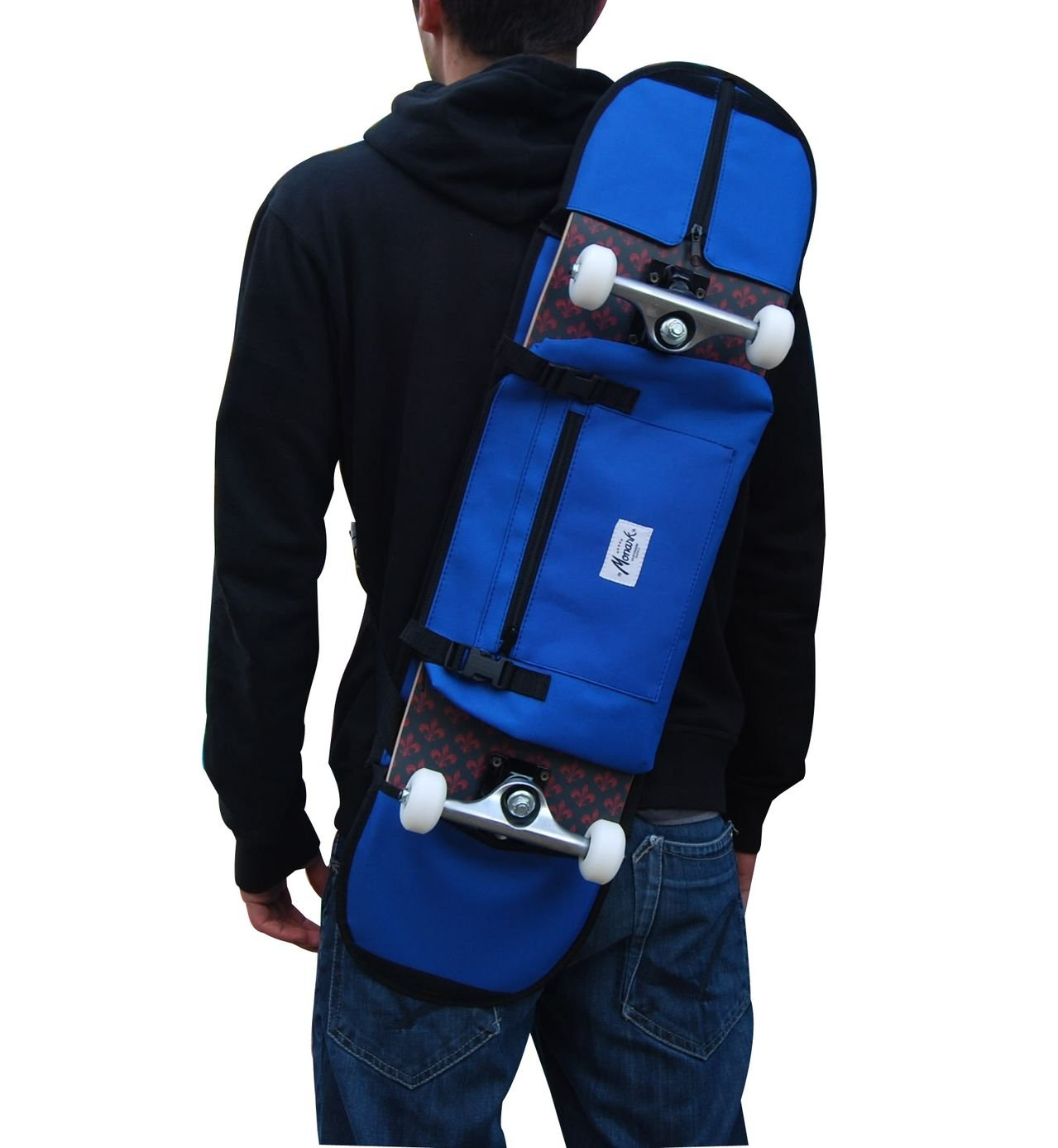 Skateboard Case Backpack Carrying Bag 7, 5-8, 5 Inches Skateboarding. Blue 5-8 Monark Supply
