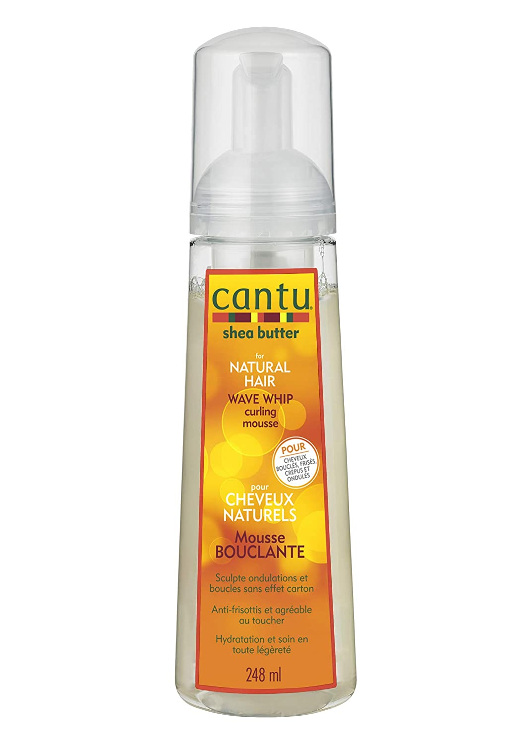 Amazon Com Cantu Natural Hair Wave Whip Curling Mousse 8 4 Oz Beauty